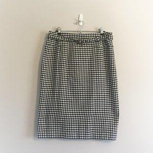Nygard Houndstooth Skirt w/ Belt